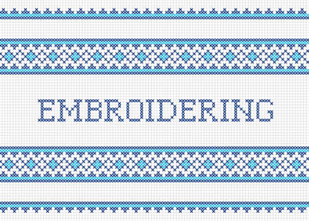 cross stitch: Labores de punto de cruz decorativo dise�o hecho a mano bordado