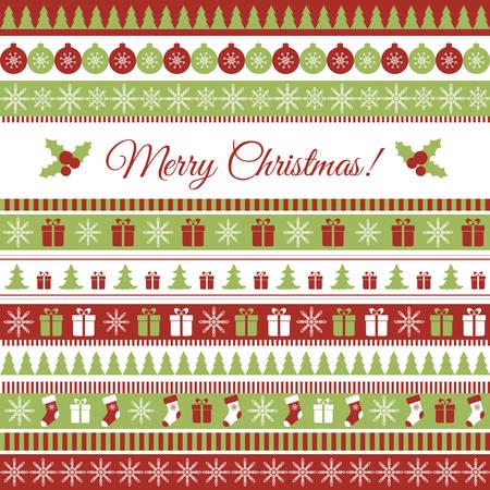 lineas decorativas: Tarjeta de felicitaci�n de la Navidad del vector con elementos de la Navidad