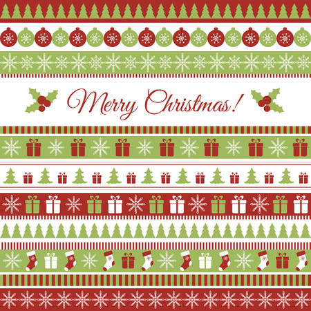 decorative elements: Vector Christmas greeting card with Christmas elements