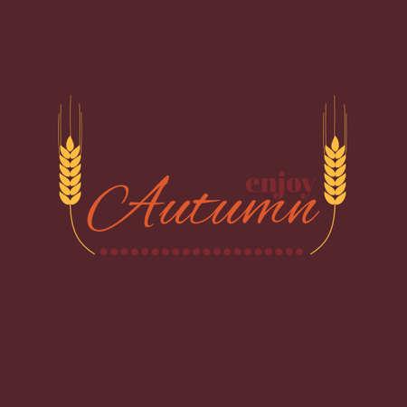 Enjoy autumn. Vector emblem, symbol for placard or flyer design Vector