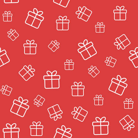Seamless funny pattern with gift boxes. Wrapping or background
