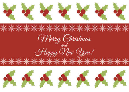merry christmas and happy new year greeting card stock vector 32652126