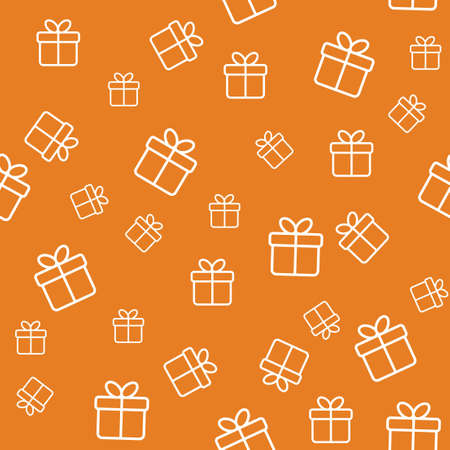 gifts: Seamless funny pattern with gift boxes. Wrapping or background