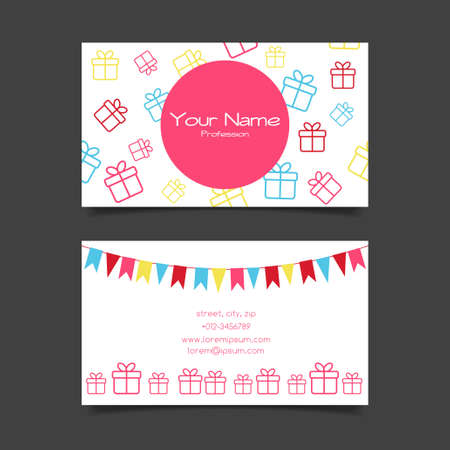 Business card vector template with gift boxes royalty free cliparts 37099338 business card vector template with gift boxes reheart Image collections