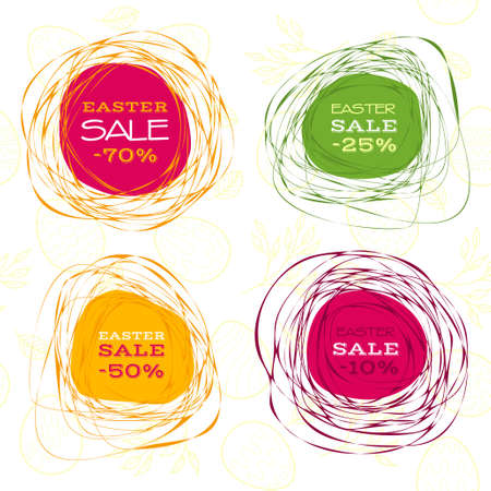 bunner: Set of Easter sale vector abstract frames