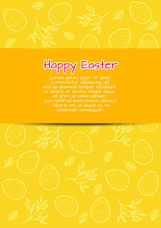 Flyer template with Easter bavkground. May be used as a greeting card Vector