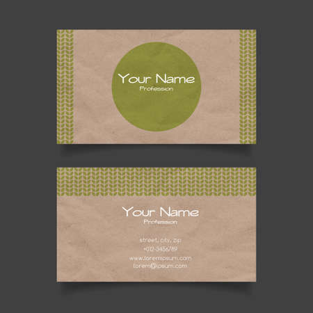 recycle logo: Business card vector template. Eco design