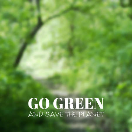 unfocused: Vector blurred background. Green landscape. Go green and save the planet