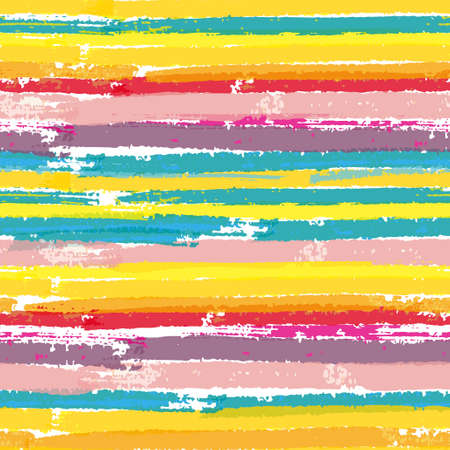 colorful paint: Seamless vector pattern with paint color stripes