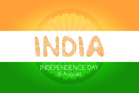 decorative letters: Indian independence day background concept with decorative letters Illustration