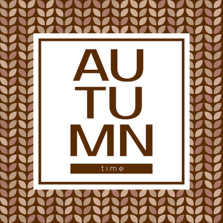 cover background time: Autumn time vector poster on a seamless background. May be used as print or cover Illustration
