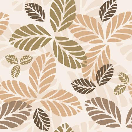 단풍과 꽃 벡터 원활한 패턴 일러스트