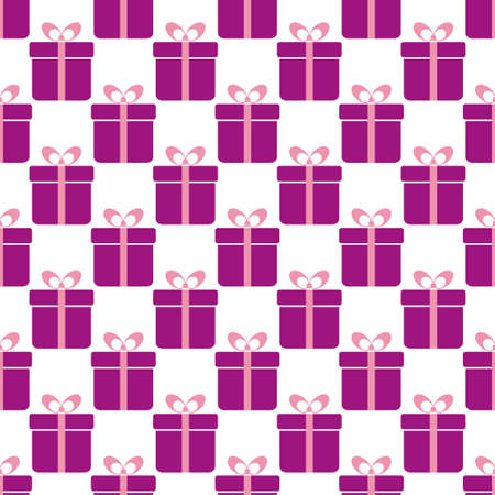 wrapping: Seamless vector background with gift boxes. Perfect for wrapping paper