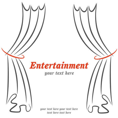 Entertainment poster with curtains 矢量图像