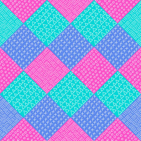 diagonal: patchwork pattern. Hand drawn seamless abstract pattern Fashion fabric print design