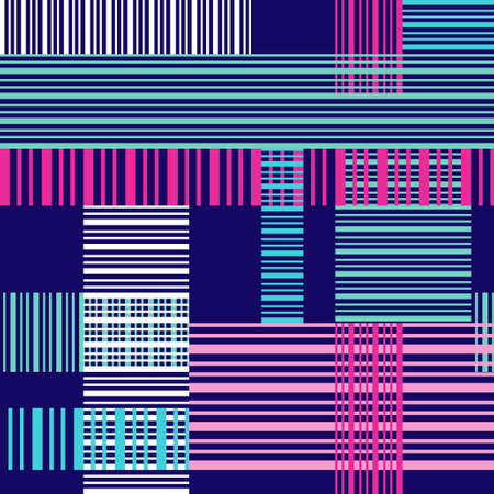 lines abstract: Seamless bright pattern with colorful cross lines. Abstract pattern for fabric print, paper design Illustration