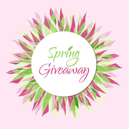 giveaway: Spring giveaway vector card