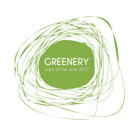 awry: Greenery - color of the year 2017. Trendy frame