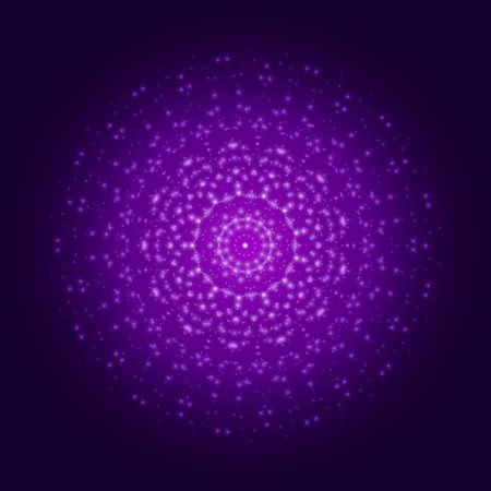 Purple light mandala. Abstract vector ornament