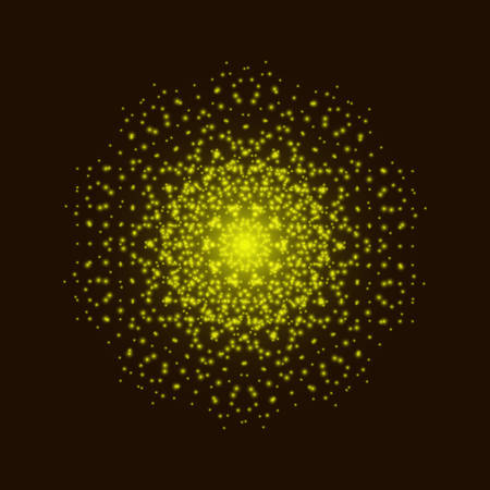 Yellow light mandala. Abstract vector ornament