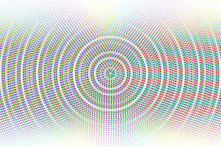 Abstract vector circle glitched background