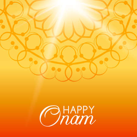 onam: Happy Onam vector greeting card