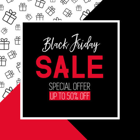 Black friday sale template. Promotional banner