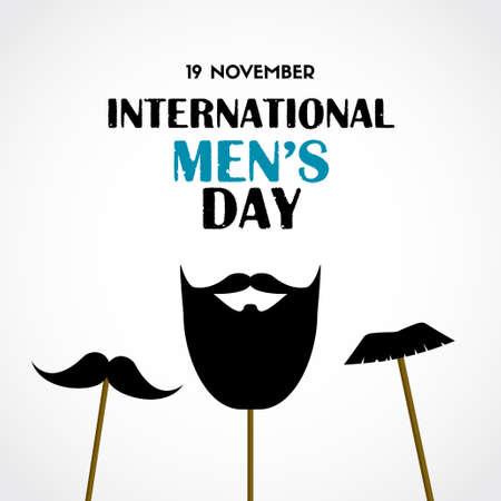 International mens day vector greeting card Ilustração Vetorial