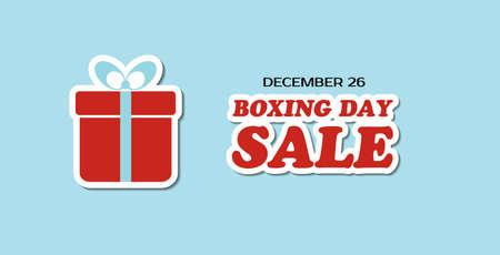 Boxing day sale vector banner Illustration