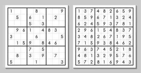 Sudoku game with the answer
