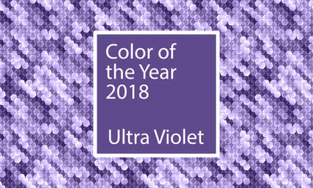 Color of the year 2018 abstract pattern design. Vektorové ilustrace