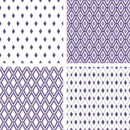 Conjunto de fondos ultra violeta rombo transparente