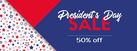 President's day sale. Vector banner template. Ilustração