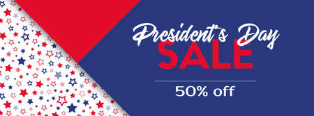 Presidents day sale. Vector banner template. Illustration
