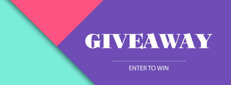 Giveaway banner. Vector design template. Facebook cover size