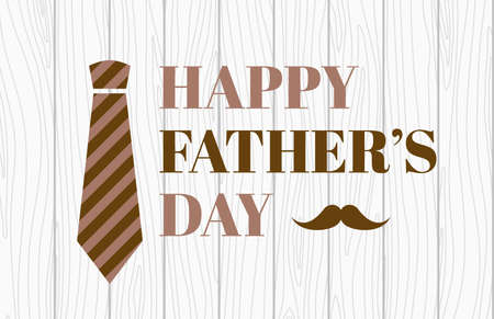 Happy fathers day. Vector banner Stock Illustratie