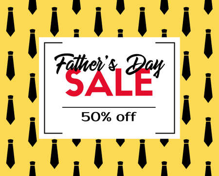 Fathers day sale. Vector discount template