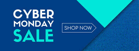 Cyber monday sale. Shop now. Vector banner