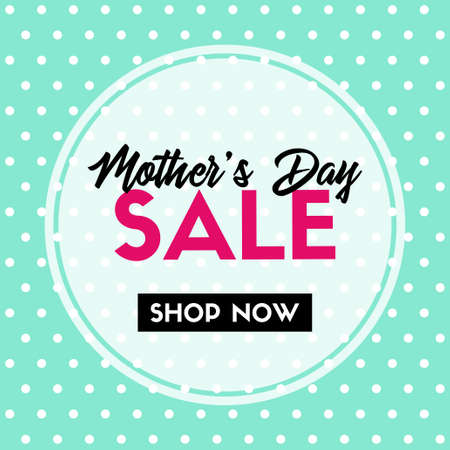 Mothers day sale. Vector banner for social media promotion