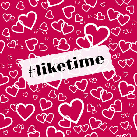 Liketime vector template for social media blog Illustration