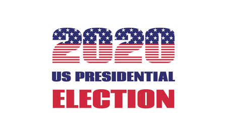 2020 US presidential election. Vector banner template. Isolated