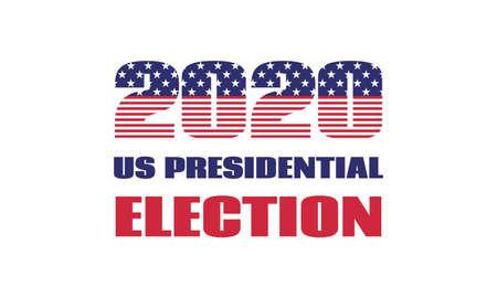 US-Präsidentschaftswahl 2020. Vektor-Banner-Vorlage. Isoliert