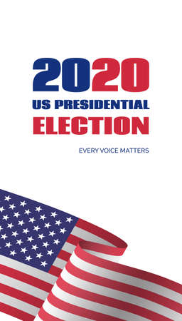 2020 US Presidential election banner. Vector vertical template for vote invitation  イラスト・ベクター素材