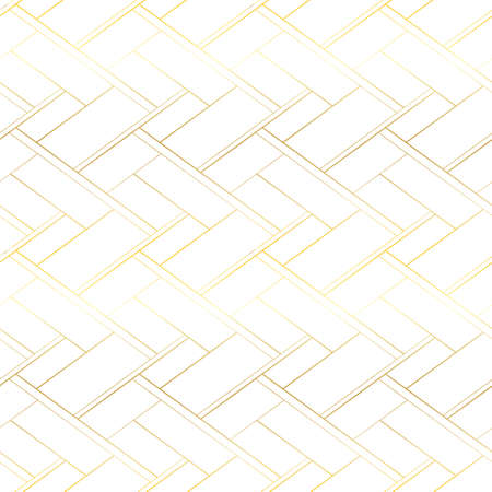 Luxury vector seamless pattern. Golden cross lines abstract background. Premium design  イラスト・ベクター素材