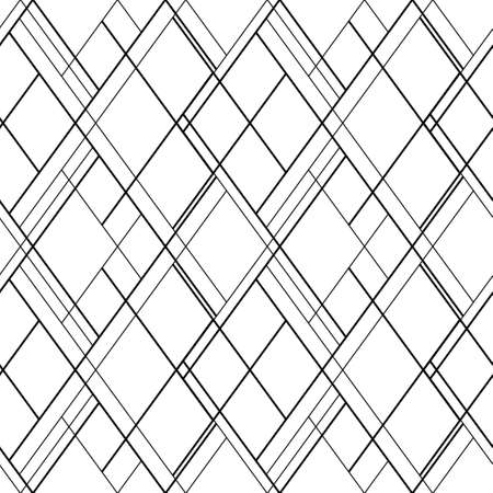 Cross lines vector seamless pattern. Hatch background. Scandinavian wallpaper design