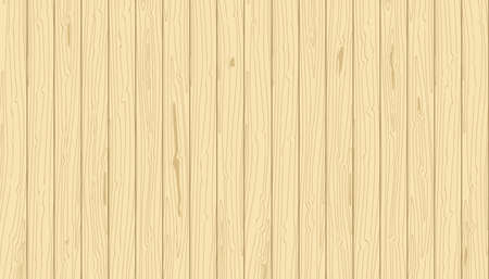 Light wooden vertical planks. Vector grain textured wood background. Pine veneer