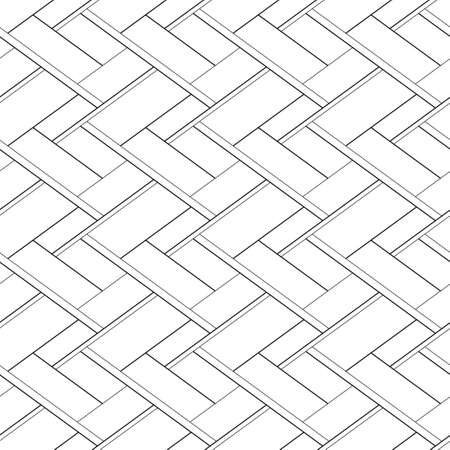 Abstract seamless pattern with cross lines. Vector black and white tile background Ilustração