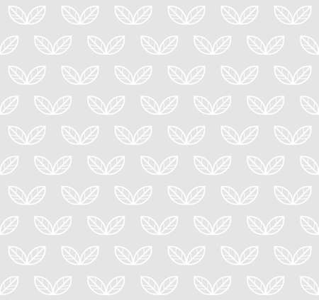 Leaves seamless pattern. Vector light monochrome minimal background. For scandinavian wallpapers, textile design