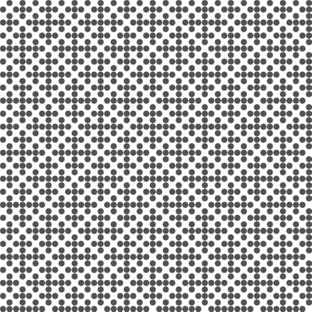 Abstract geometric seamless pattern. Dotted black and white halftone background. For wallpapers, textile design Ilustrace