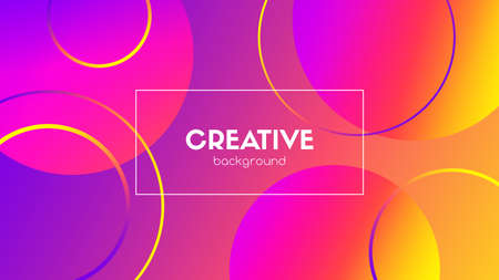 Creative vector colorful background. Abstract gradient circles. Trendy wallpaper